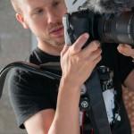 Ben filming